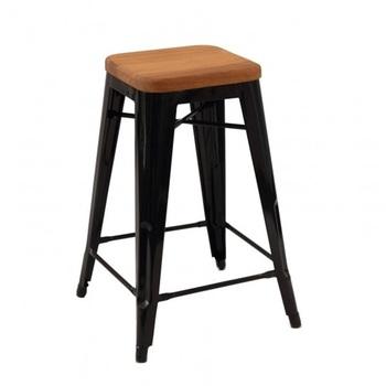 Noir chaise Industriel Chaise Cm Industriel Bois 1505 Empilable En Métal De Buy Hauteur Mch Tabouret 65 9YIW2EDH