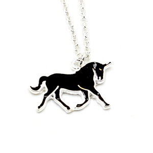 Latest Design Fashionable Alloy Children's Mood Unicorn Necklace for Promotion