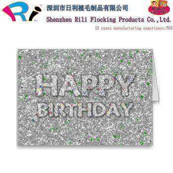 Rili Bulk Happy Birthday Greeting Cards With Flocking And Glitter