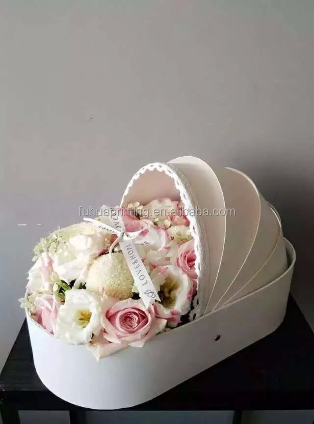 Corrugated cardboard flowers delivery boxes