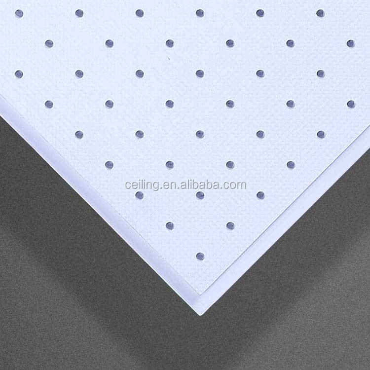 Hot Selling High Strength Plastic Gypsum Perforated Acoustical Ceiling Tile