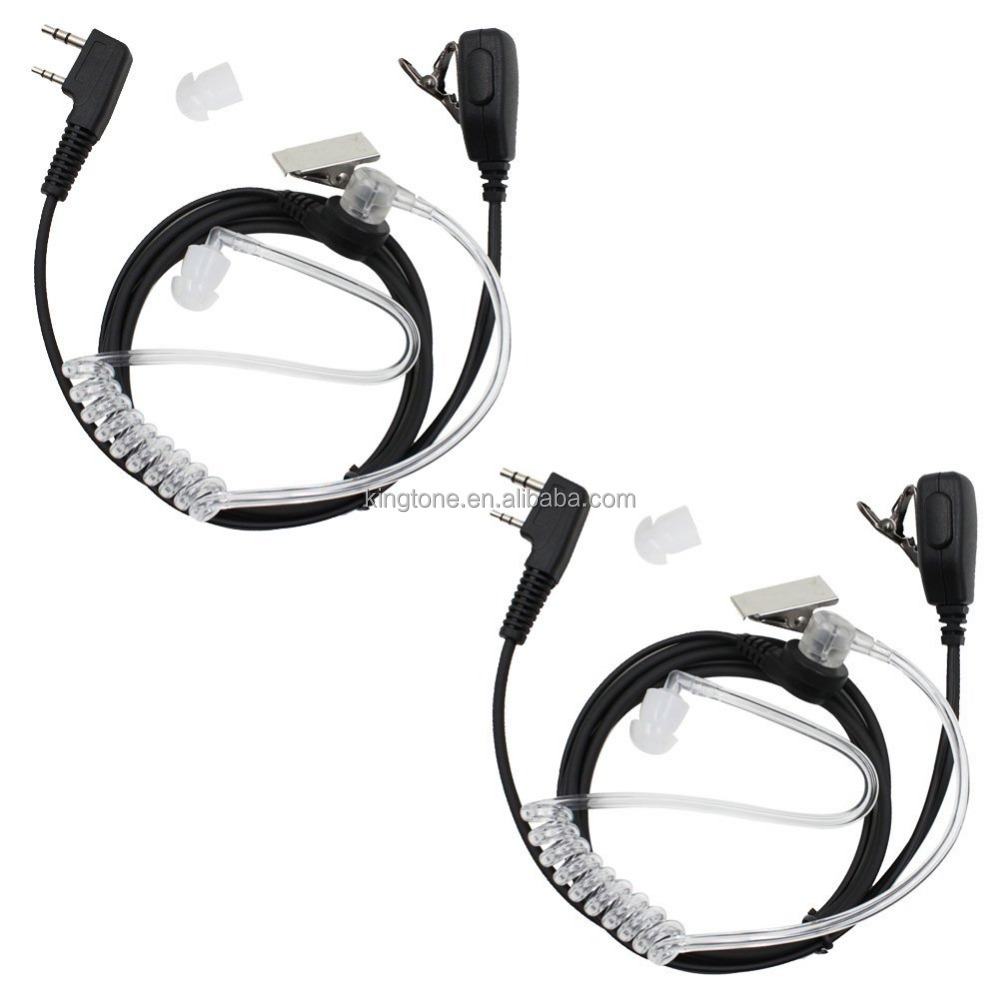 Wholesale Hands free 2 Way Radio VOX Acoustic Airtube Headset Air Tube Headsets