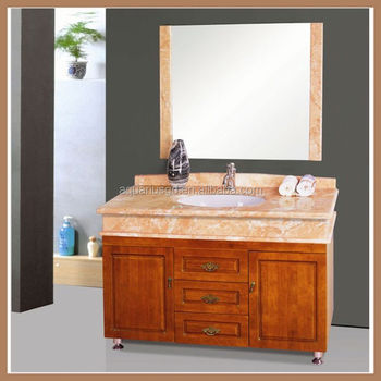AQUARIUS Hot Sale Wall Mounted Wooden Washbasin Cabinet Design