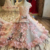 LS83920 high quality hot selling pink 3d flower pattern elegant beautiful flower girl dress