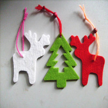 popular recycled colorful different types felt Christmas decorations home