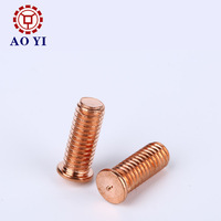M6 M8 M10 Brass Copper Plated Stud Welding Screws and Nuts
