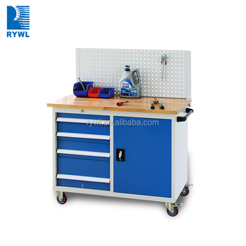 Professional Roller Cabinets Workstation /blue Metal Tool Boxes On Wheels