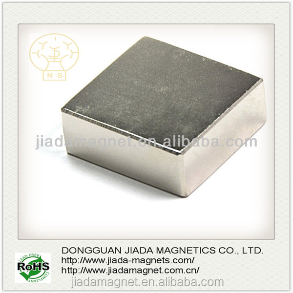 Super Strong Permanent Grade N50 Neodymium Magners 1*1*1/2 Inch Rare Earth with nickel coating