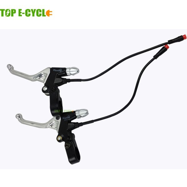 TOP E-cycle electric bike brake levers waterproof cable 2-pin
