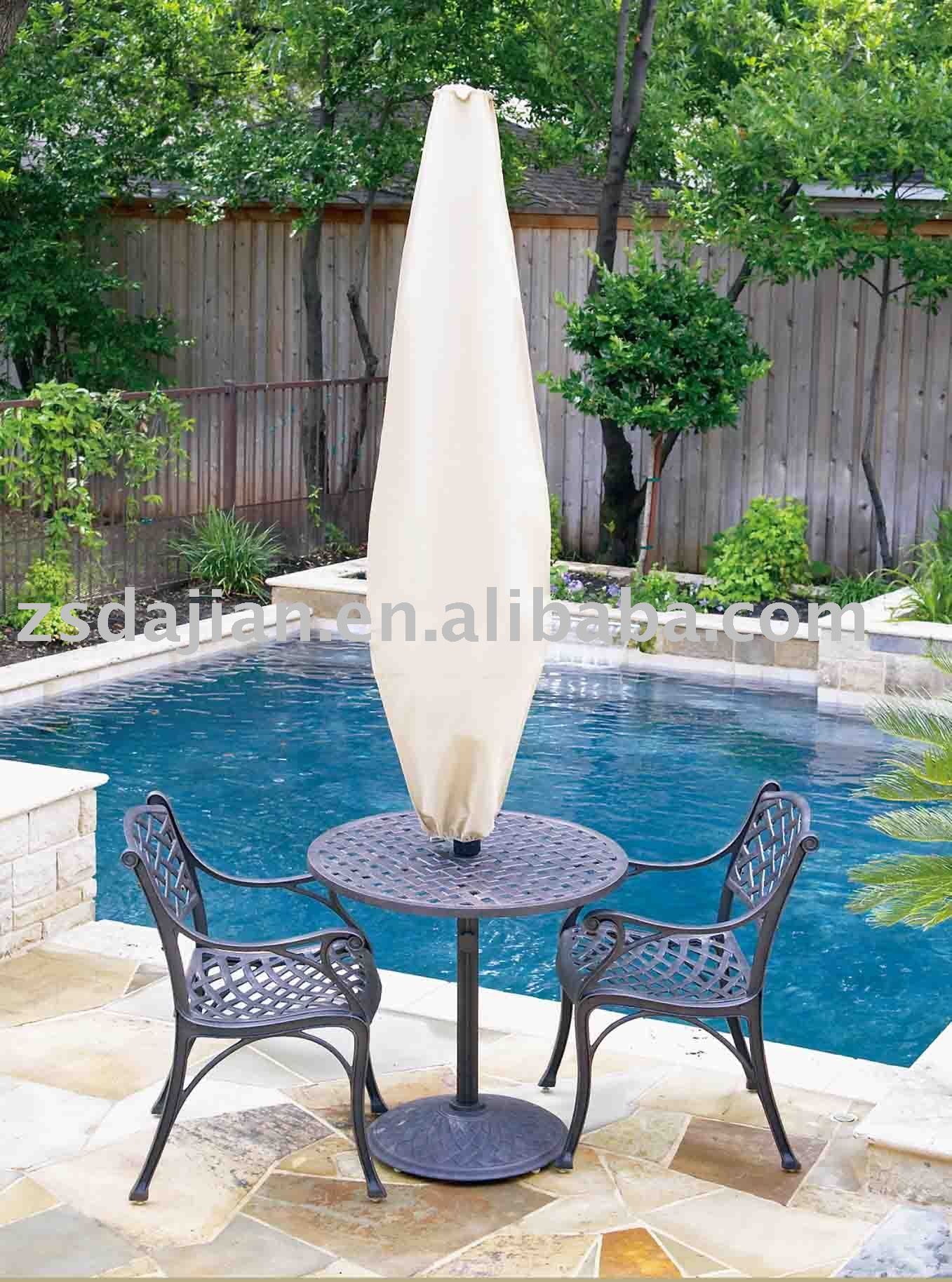 outdoor furniture cover - Umbrella Set ; PVC/PVB/PE with polyester 600D