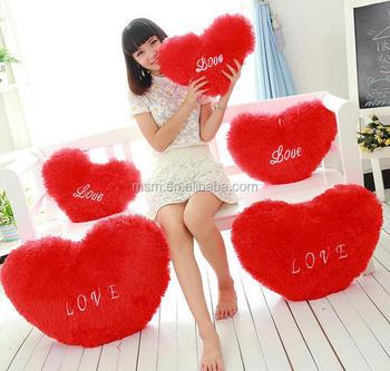 Nice Girl Fur Heart Shape Love Pillow Buy Fur Pillow Gel