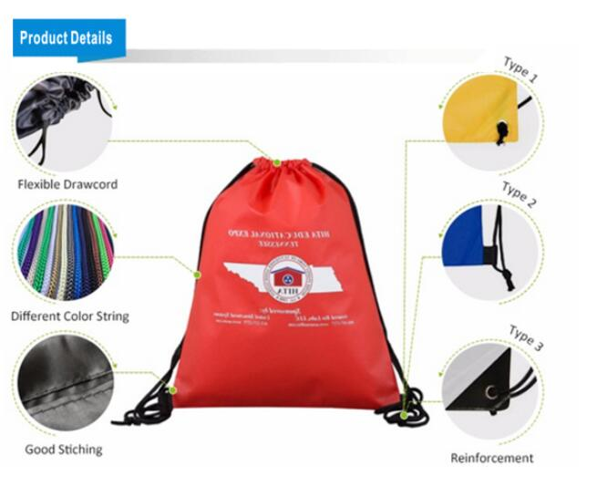 Bright Color Drawstring Backpack For Outdoor Use