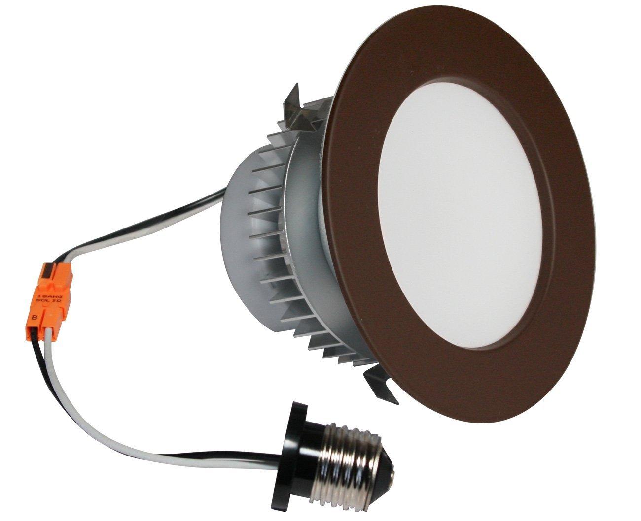American Lighting EP4-E26-27-DB Samsung LED E-Pro Series Recessed Downlight, Dimmable, 7.6-Watts, 480 Lumens, 2700K Warm White, 4-Inch, Dark Bronze