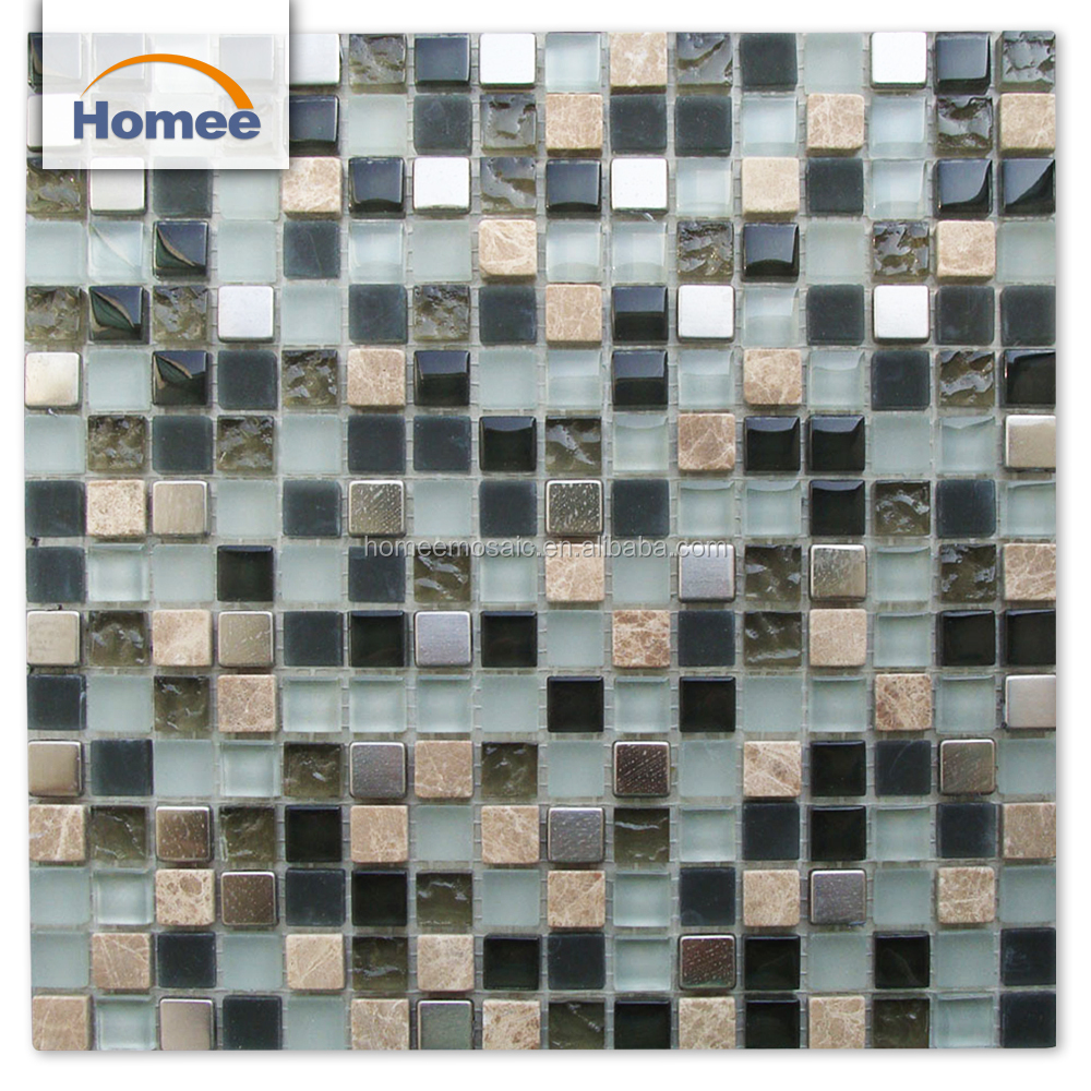Bathroom Wall Decorative Material Glass Marble Mosaic And Stone