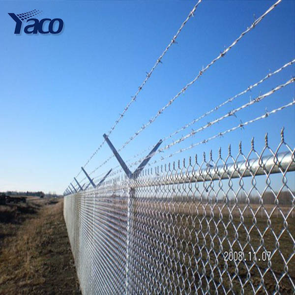 top barbed wire used chain link fence panel post for house