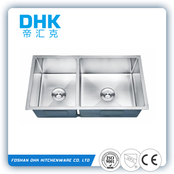 60/40 Double Bowl Solid Surface Plastic Medical Sink