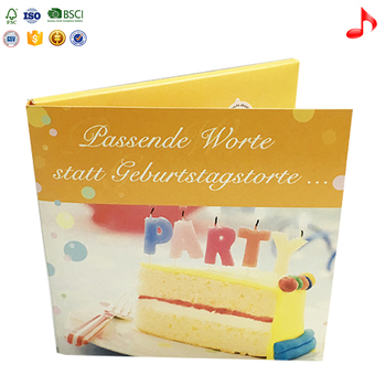 Happy Birthday Messages Music Greeting Card