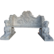 Garden statuary natural polished stone bench with back