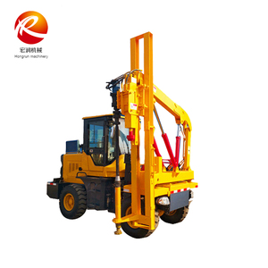 Safety barrier road fence installation driver pile