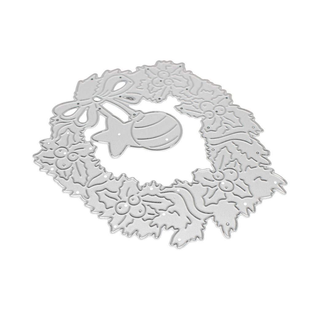 Lanhui_New!!! Merry Christmas Exquisite Metal Cutting Dies Stencils Scrapbooking Embossing DIY Crafts (D)