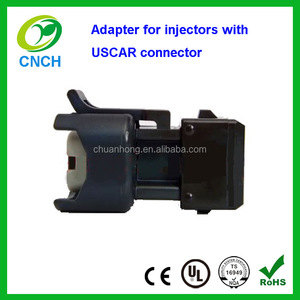 Adapter for injectors with USCAR connector Adapts USCAR connector to Boschs Jetronic (EV1) connector