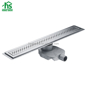 Big overflow stainless steel long deodorant bathroom floor drain