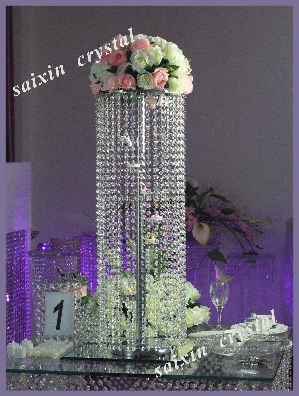 Beautiul Iron Flower Stand Wedding Table Decoration Centre Pieces Zt