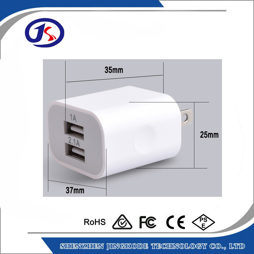 US plug สีขาว AC wall charger สำหรับ iPhone และ Android