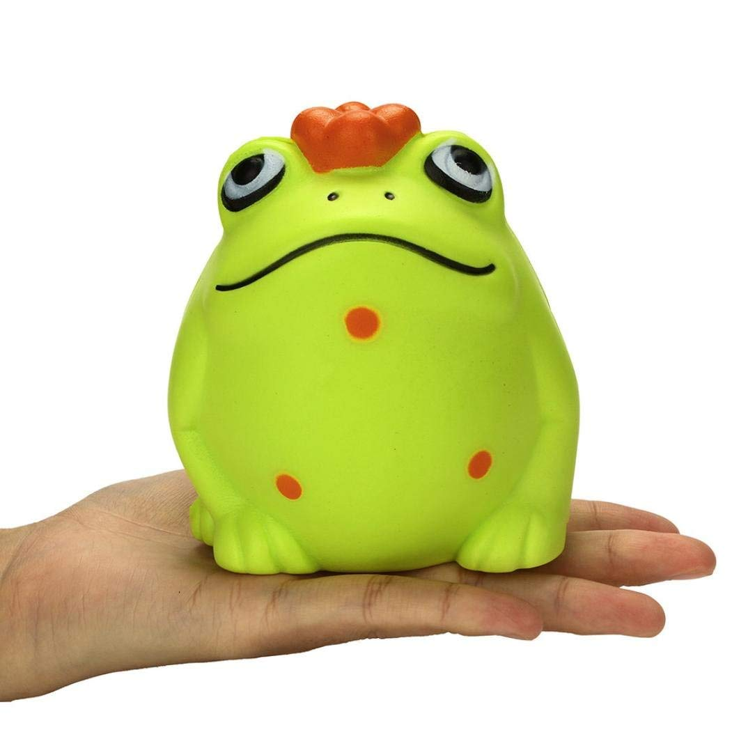 Staron® Squishies Frog Slow Rising Jumbo Kawaii Cute Animals Squishy Toys Cream Scented Squishies for Kids Squeeze Stress Reliever Party Squishy Toys (A)