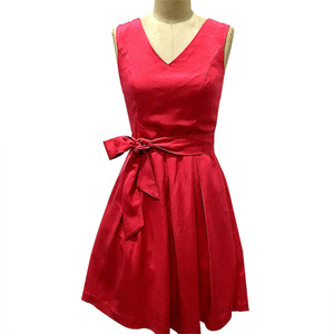 Fashion red V-neck dress party evening ladies sexy night dress
