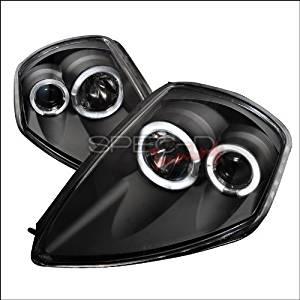 Spec-D Tuning Mitsubishi Eclipse 2000 2001 2002 2003 2004 2005 Dual LED Halo Projector Headlights - Black