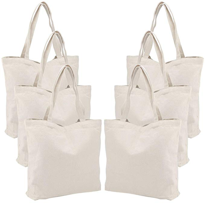 (High) 저 (quality 면 풀 printing 쇼핑 canvas tote Bag assorted 색