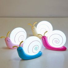 2017 Novelty Cute Cartoon Snail LED Night Light, Creative Rechargeable Snail Desk Lamp, Multi-functional LED Night Light