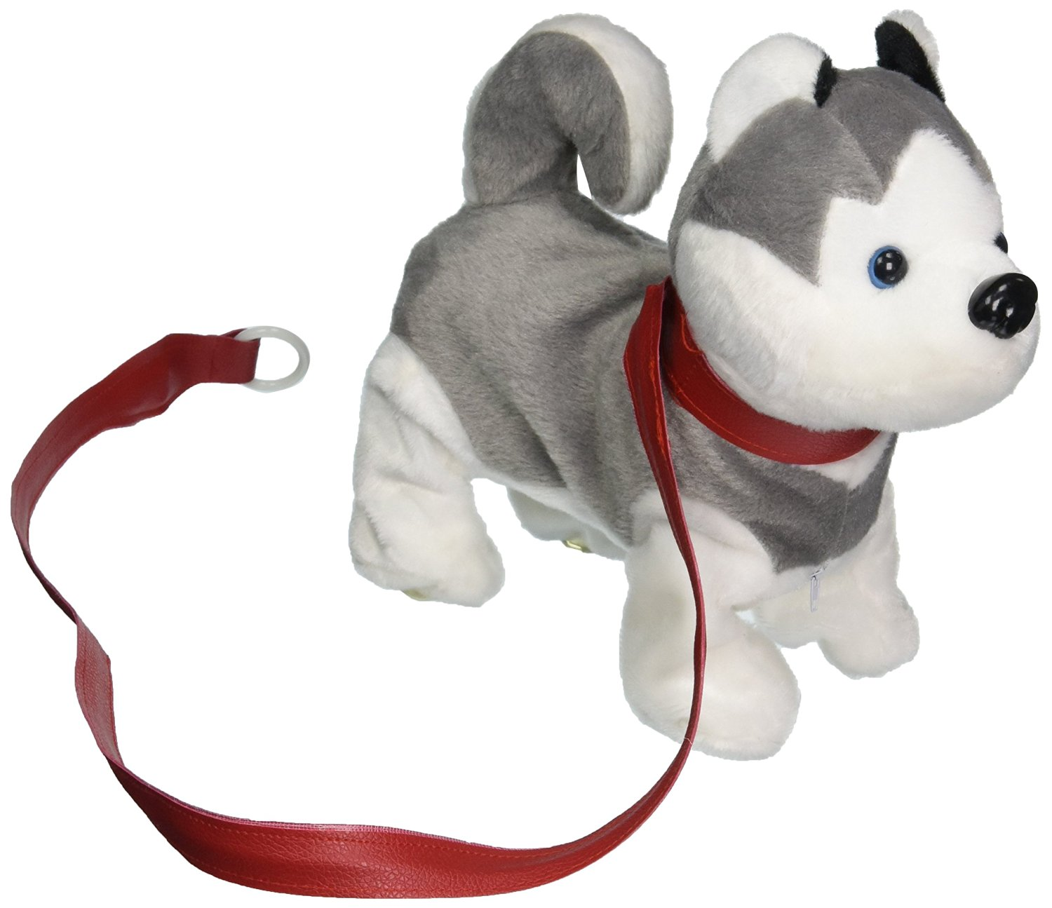 Velocity Toys VT My Dancing Puppy 'Husky Puppy' Walk Along Toy Stuffed Plush Dog, Realistic Dancing & Walking Actions with Music (Colors May Vary)