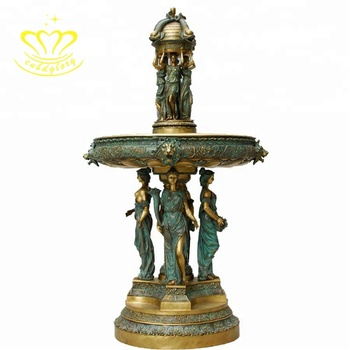 Outdoor Garden Decor Fashion Metal Craft New Product Bronze Statue Sculpture Water Fountain