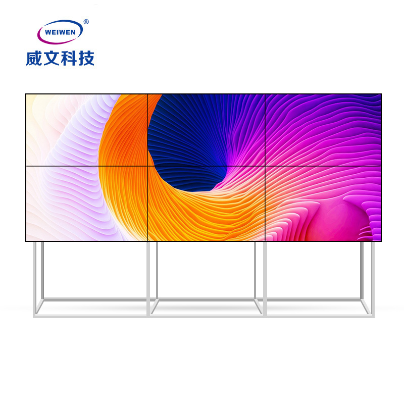 2018 new full HD indoor 2x3 1.8mm ultra narrow bezel video wall lcd <strong>monitor</strong>