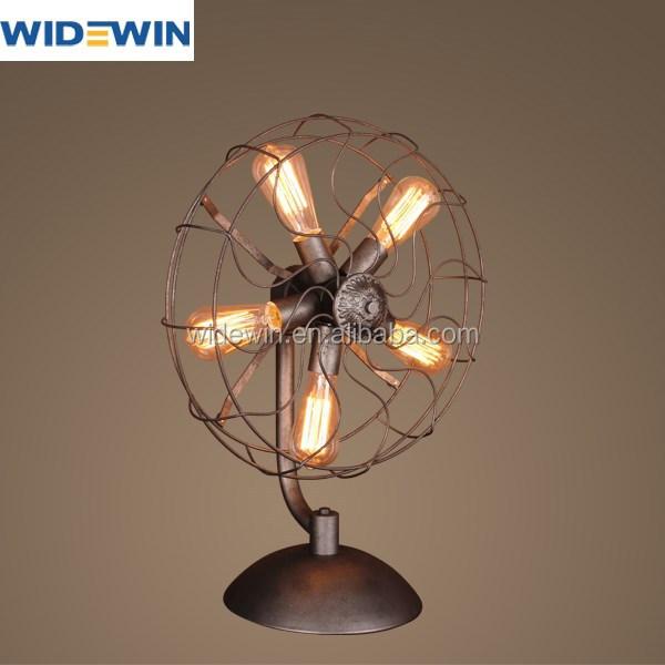 Industriële Fan Tafellampen voor zitkamer eetkamer decoratie-Tabel ...