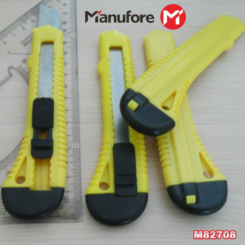 plastic handle carbon steel blade Hand tools pocket cutter knife