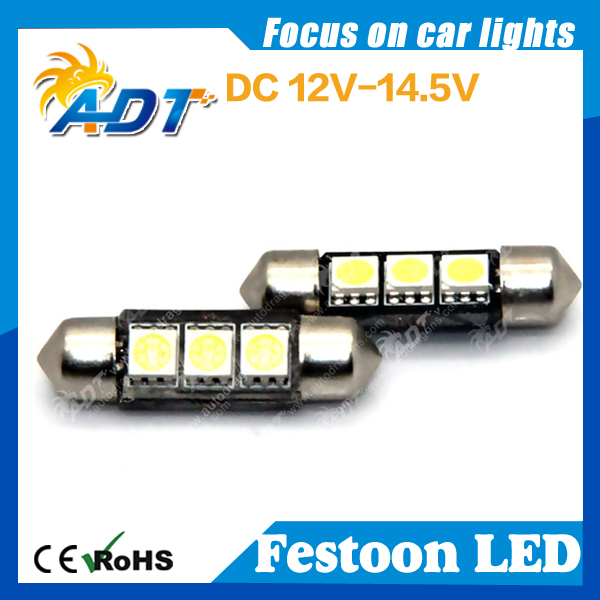 3 SMD LED 36mm 239 272 CANBUS ERROR WHITE NUMBER PLATE LIGHT FESTOON dome bulb