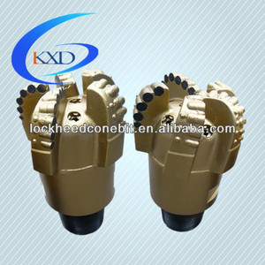 China diamond rock drill bits / 5 blades PDC drill bit / well drilling equipment