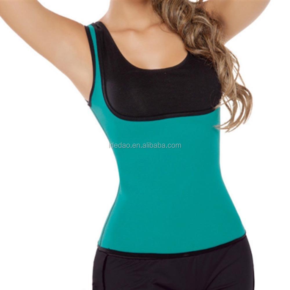 a51bb07726 Slimming Neoprene Vest Hot Sweat Shirt Body Shapers sweat band latex body Training  Belt waist trainer shapers