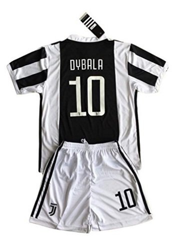 78fb59405 Dybala 10 Juventus Home Season 17 18 Soccer Jersey   Shorts Youth 7-
