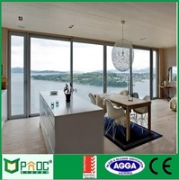high quality aluminium glass sliding door with security screen door PNOC103155LS