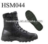 waterproof membrane lining military style YKK side zip stylish tactical boots for Canada