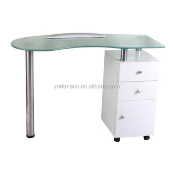 Yorkma Hot Selling Grey Double Used Nail Manicure Salon Table Bar