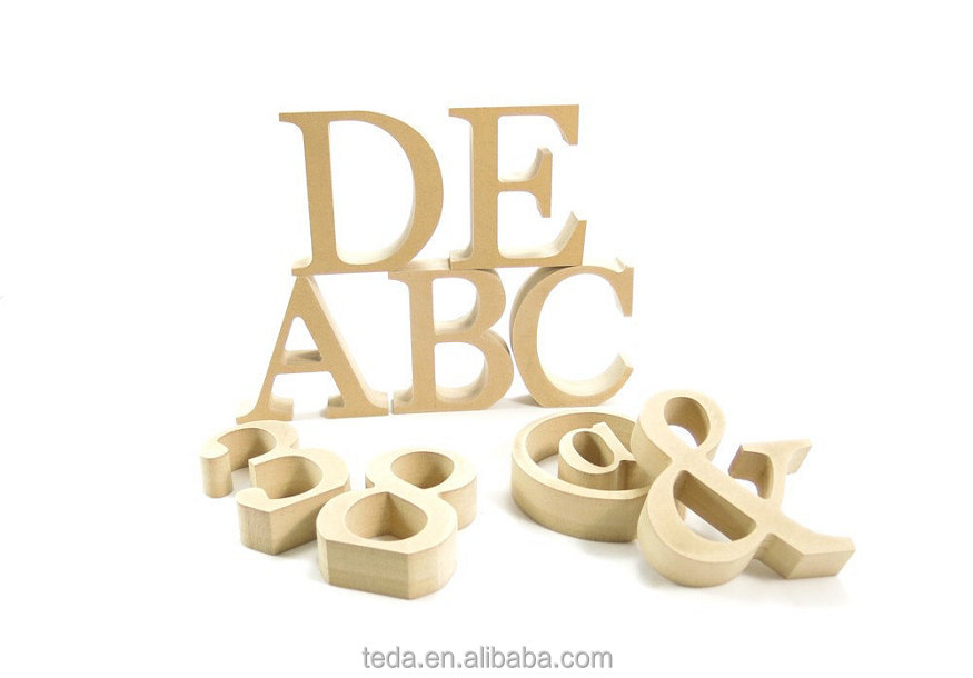 Free standing wooden mdf letters for DIY craft projects