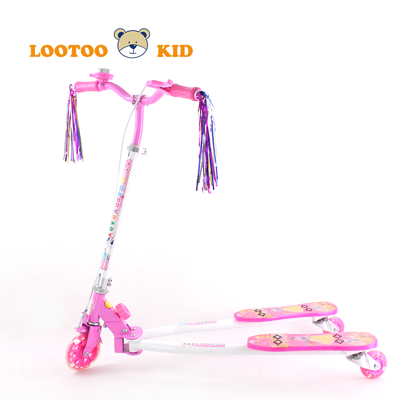 Alibaba trade assurance china factory cheap price frog style kids kick scooters three wheel