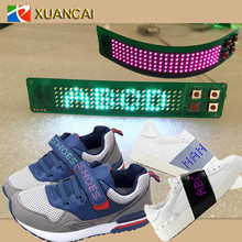 New Hallowmas Battery LED Flashing Text Shoes Light