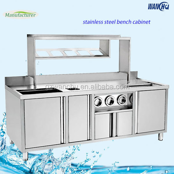 Commerical kitchen sink base cabinet stainless steel for Stainless steel kitchen base cabinets