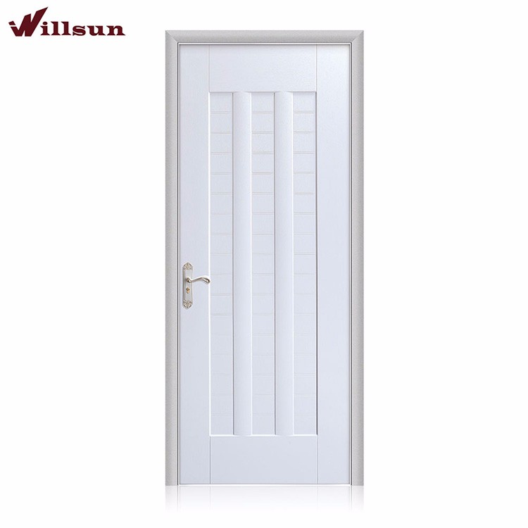 Latest design ecological plywood wood white interior swing door